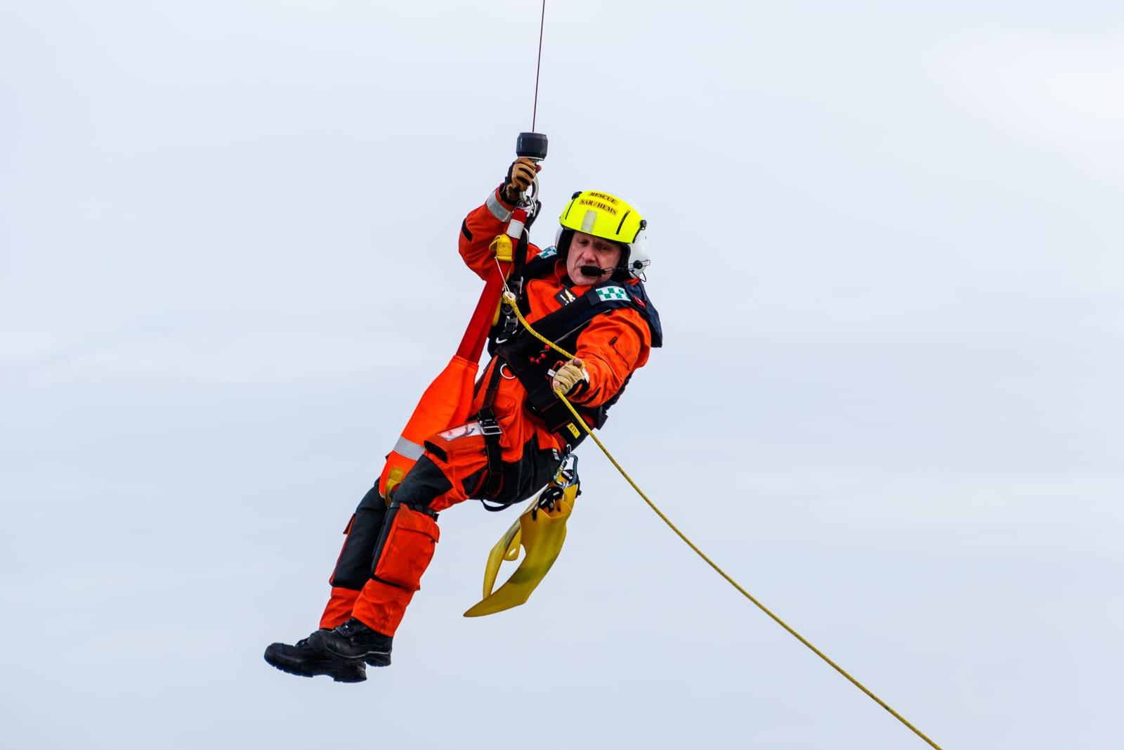 Winchman hoist harness